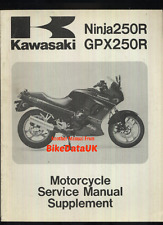 Original Kawasaki GPX250R 1988-on Supplementary Shop Manual GPX EX 250 R F Ninja