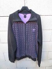 Veste ADIDAS Trefoil noir rose rétro vintage trcktop jacket XL