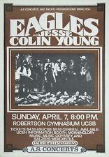 Eagles a - Concert VINTAGE BAND POSTERS Song Rock Travel Old Advert #ob