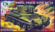 UM-MT Models 1/72 Soviet BT-7A WHEEL TRACK TANK