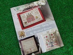 Agnes Platt's Strawberry Sampler Cross Stitch Patterns Blackbird Designs 3-proj.