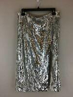 Women's Lovers + Friends Liana Sequin Skirt, Size L - Silver/White