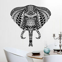 Wall Decals Elephant Ganesh Om Tatoo Head Mandala Tribal for Home Room M1618