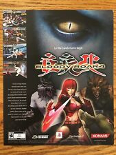 Bloody Roar 4 Playstation 2 PS2 2003 Vintage Video Game Poster Ad Art Print Rare
