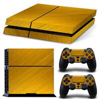 Sony PS4 Playstation 4 Skin Design Aufkleber Schutzfolie Set - Gold Motiv