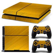 SONY PS4 PlayStation 4 SKIN Design Adesivo Pellicola Protettiva Set - GOLD Motif