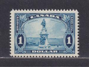 Canada Scott 227 VF MNH 1935 $1 Deep Blue Champlain Monument, Quebec