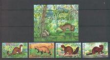 Moldova 2006 Fauna Animals 4 MNH stamps + Block