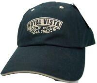 Royal Vista Golf Club Ahead Classic Cut Relaxed Fit Adjustable Black Cap Hat