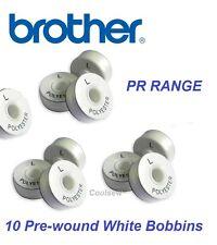 Brother pr Range Broderie Pre Wound bobine fil blanc verso L - 120 m x 10