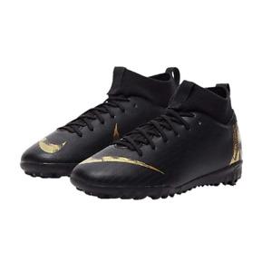 Nike Big Kid Black/Metallic Vivid Gold Turf Soccer Shoes M US 2.5 AH7344-077