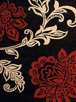 RED LANTANA  8X10 ROOM SIZE AREA RUG FOR THE HOME NEW!