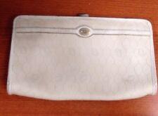 DIOR Clutch/Toiletry Bag White/Grey Trim