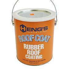RV Rubber Roof Coating 1-Gal Vent Leak Sealant Trailer Motorhome Camper Repair