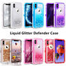 For Apple iPhone X XS Bling Liquid Glitter Case Cover (Fits Otterbox Belt Clip)
