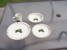 "John Deere dishes tractor dish set ""Amber Fields"" retired design 04- 07"