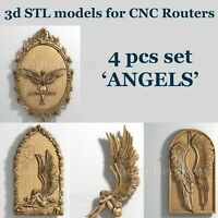 3d stl models 4 pcs set for CNC Router Artcam Aspire