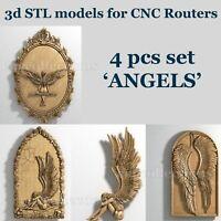 3d stl models 4 pcs set for CNC Router Artcam Aspire