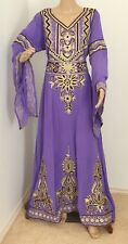LAVENDER DUBAI KAFTAN ABAYA JILBAB WEDDING GOWN PARTY WEAR ISLAMIC ARABIAN DRESS