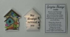 zzp May blessings surround you SPRINGTIME BLESSINGS Birdhouse pocket token charm