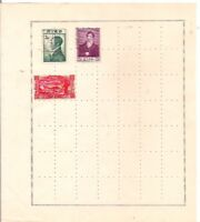 3 IRELAND stamps on an album page.