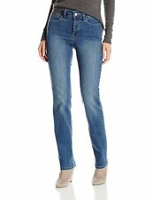 BRAND NEW NYDJ MARILYN STRAIGHT LEG JEANS SIZE UK 6 COLOUR PITTSBURGH WASH