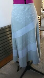 M&S Pale Green Skirt Size 10