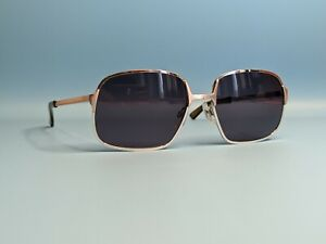 VINTAGE RODENSTOCK GERT WR SILVER RECTANGULAR SUNGLASSES MADE IN GERMANY #470
