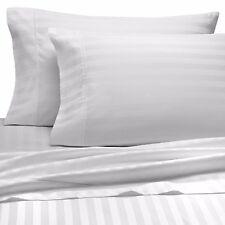 Damask Stripe 500 Thread Count Egyptian Cotton - Cal King / White