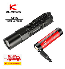 Klarus XT1A 1000 lumen compact flashlight tactical EDC torch USB rechargeable