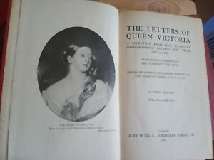 Letters of Queen Victoria 1837:1861 3 Vol Set Published John Murray 1908