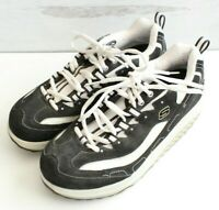 Skechers Shape Ups Womens Size 8 Black and White Shoes 11809 EXCELLENT