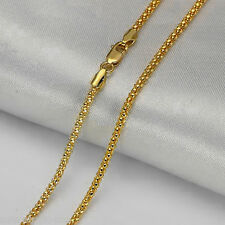 17INCH Solid 18K Yellow Gold Necklace Special Popcorn Link Chain Necklace