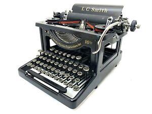 EXCELLENT 1927 LC Smith No.8-10 Typewriter Working Vtg Antique Pica