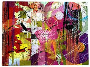 Gold Dore Pink Retro Vintage Puzzle Gold Foil MB Abstract Art 750 Pieces 27x20