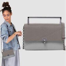 NWT ❄️ Botkier Lennox Small Crossbody Bag Saffiano Leather Charcoal Grey Combo