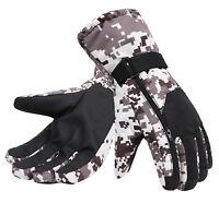 Men Winter Warm Thinsulate Lining Waterproof Camo Ski Snow Gloves Sports Mittens