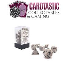 Dark Grey With Black Opaque Polyhedral 7-die Set Chessex Chx25410
