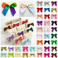 Large 5cm Satin Bows, Self Adhesive Sticky Pre-Tied 16mm Ribbon Craft Gift