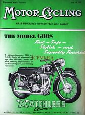 Jul 14 1955 Matchless 'G80S Clubman' Motor Cycle ADVERT - Magazine Cover Print