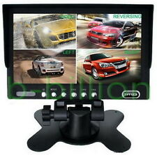 "7"" Auto Reverse 4 Channel Quad Split Color Video AV Rear View TFT LCD Monitor US"