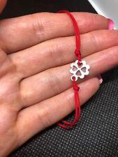 silver Clover  Stainless Steel bracelets Cord Adjustable