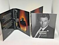2 Mont Blanc Legend Night Eau de Parfum Spray Sample for Men 1.2 ml X 2 New