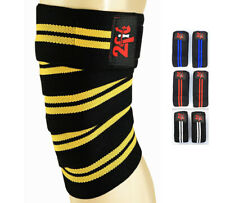 2Fit Knee Wraps Bandage Weight Lifting Support Knee Sleeve Crossfit Gym Training
