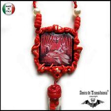 Talismano amuleto ciondolo segno pesci rossi porta fortuna denaro felicità soldi