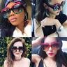 Luxury Women Ladies Sunglasses Glasses Vintage Retro Oversized Square Gradient