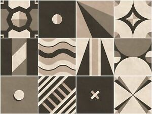 Sirface PACK OF 24 - Tangram Geometric Tile Decals - Tile Stickers Set for Ki...
