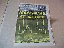 Black Panther party newspaper Massacre At Attica, Angela Davis (1971) Vg+