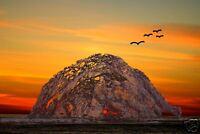 Morro Rock 3007 by Barbara Snyder Morro Bay California