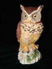 Beautiful Andrea Porcelain Owl by Sadek Statue Figurine ~ Japan Owl